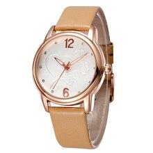 2020New יוקרה BrandFashion LeisureSimpleStyleWomen WatchLeather רצועת השעון קוורץ WatchWomensGift Relogio Feminino reloj mujer