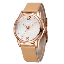 2020New Luxury BrandFashion LeisureSimpleStyleWomen WatchLeather 시계 밴드 쿼츠 시계 womensgift Relogio Feminino reloj mujer