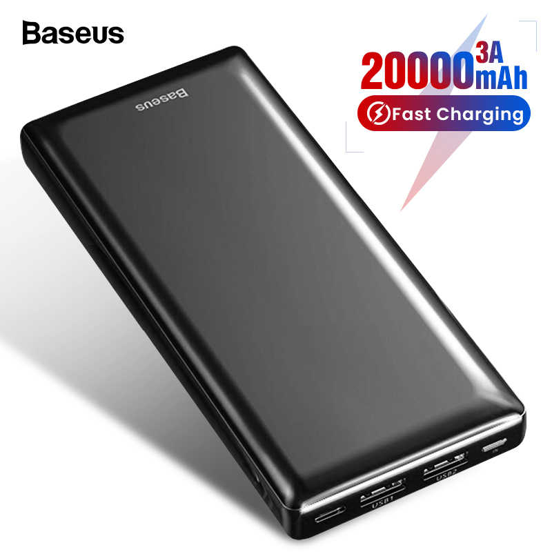 Baseus 20000 Mah Power Bank Voor Iphone 11 Xiao Mi Mi Samsung 20000 Mah Powerbank Draagbare Externe Batterij Oplader poverbank