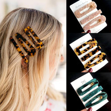 New 3pcs Set Fashion Acrylic Hair Clip For Women Korean Trendy Geometric Hair Berrettes Girl Hair Accessories Hairgrip Wholeslae