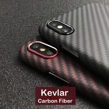 Luxury Real 3D Carbon Fiber Kevlar 0.6mm Thiness Slim Outdoor Protectiove Case C
