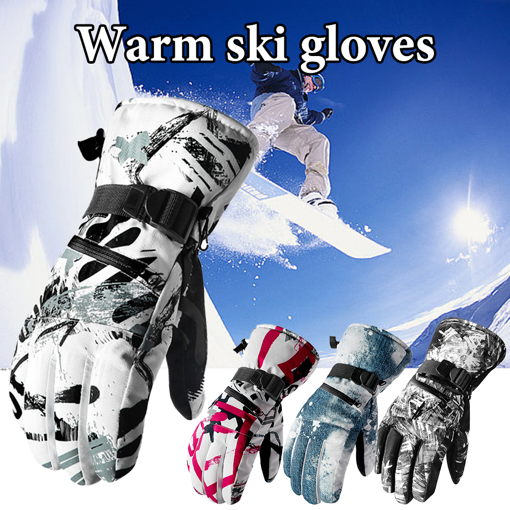 Ski Gloves Waterproof Gloves With Touchscreen Function Snowboard Heated Gloves Warm Snowmobile Snow Gloves Men Women
