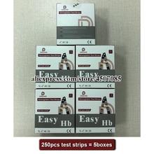 250PCS EasyHb Emoglobina macchina di prova di prova strisce/Emoglobina test strisce/Strisce di emoglobina metro (Strisce di SCADENZA DATA 2022 07)