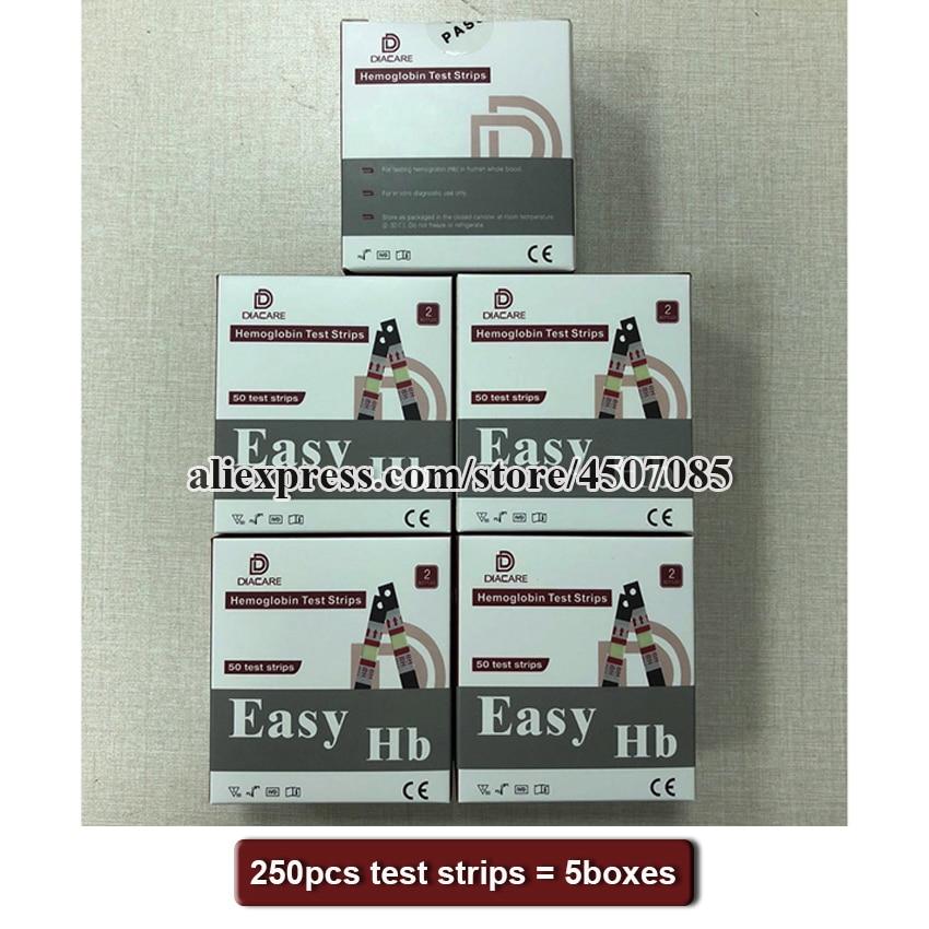 250PCS EasyHb Hemoglobin test machine test strips/Hemoglobin test  strips/Strips of hemoglobin meter (Strips EXPIRY DATE 2021 12)Toiletry  Kits