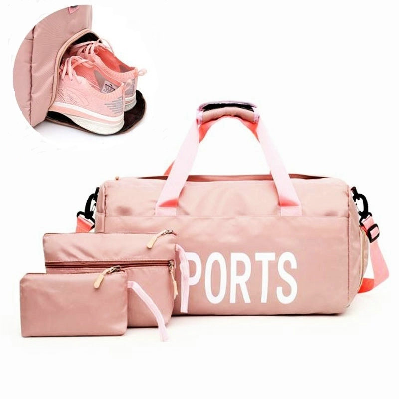 Sport Bags For Women Gym Bag Lightweight Fitness Training Yoga Bags Swimming Bag Gym Sack Dry And Wet Seperation Gym Duffel Bags