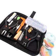 Jóias fazendo suprimentos kit com fio de jóias e descobertas de jóias starter kit jóias beading fazendo e ferramentas reparo kit hk257