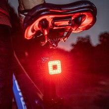 Bicicleta inteligente luz de detecção freio automático à prova dusb água carga usb ciclismo lanterna traseira da lâmpada sensor inteligente led acessórios