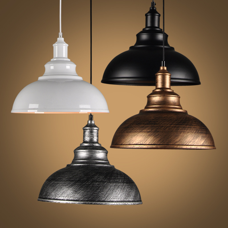 Pendant Lights Lamp Vintage Industrial Wind Restaurant Bar Cafe Creative Iron Clothing Store Lid Chandelier