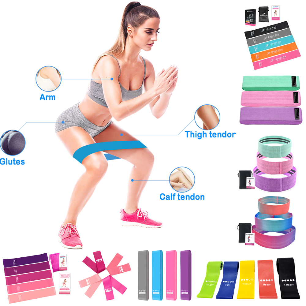 Set Of 5/4/3 Resistance Loop Bands For Exercise Sports Fitness Home Office Gym Tools Fitness Elastic Belt