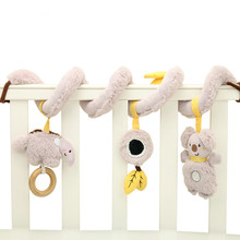 Newborn baby 0-2 years old puzzle early education plush toys, koala music bed winding