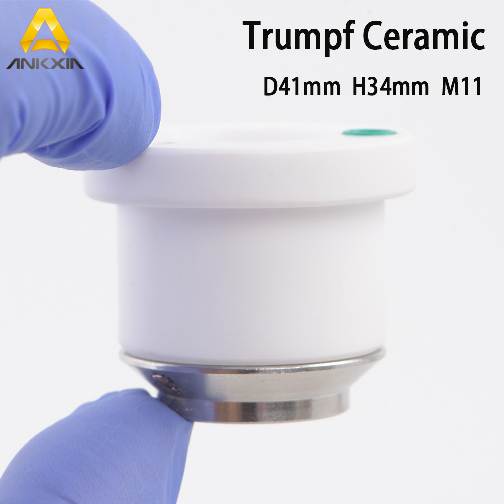 Trumpf Trumatic 1906032 Ceramic Nozzle Holder D41 H33.5  For Fiber Laser Cutting Head
