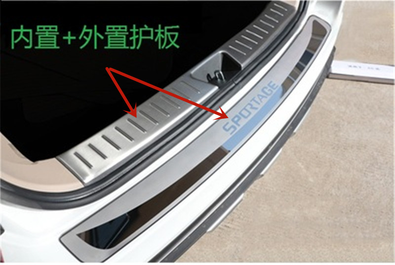 N//A Car Door Sill Protector Sticker For KIA Sportage R 2011-2015 Stainless Steel Outer Door Sill Scuff Plate Threshold Fittings Welcome Decoration