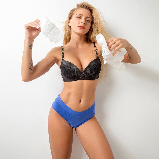 4-Layer Leakproof Women Panties Menstrual Underwear Period Absorbtent Bamboo Heavy Absorbency Briefs 2