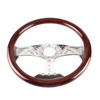 380mm 15 Inch Grant Classic Nostalgia Style Wood Grain Steering Wheel Slotted 3 Spoke Steering Wheel Riveted Light Wood Grip (Gi