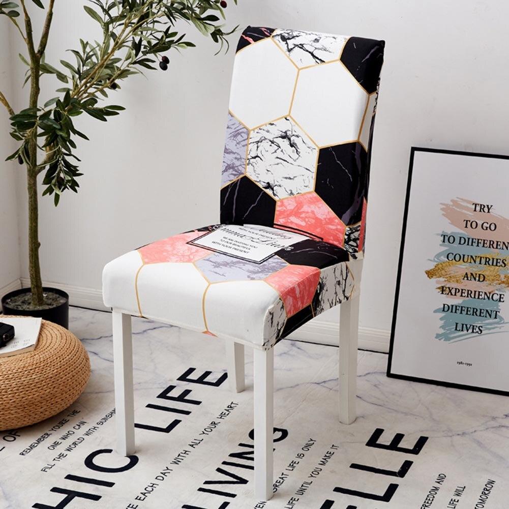 Spandex sandalye kılıfı kumaş sandalye kılıfı baskı streç çıkarılabilir yıkanabilir sandalye koruyucu kapak odası ziyafet