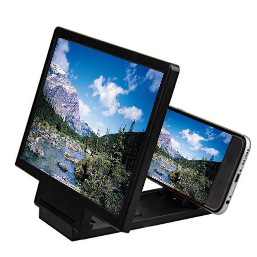 휴대 전화 화면 돋보기 눈 보호 디스플레이 3d 비디오 화면 증폭기 접는 확대 확장 스탠드 홀더