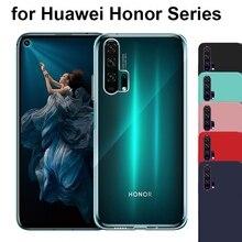 Clear TPU Soft Silicone Case for Huawei Honor 9X Pro 8X V20 8C 7A 7C Red Black Matte Scrub Cover 20 10 9 Lite V10