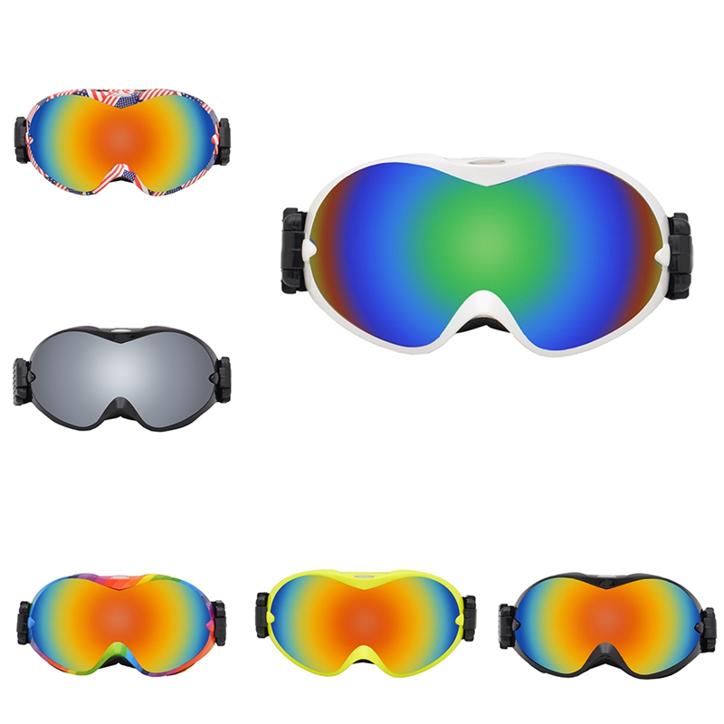 Ski Goggles Double Layer Spherical Windproof Anti-fog Outdoor Climbing Sports Protective Glasses Eyewear Accessories
