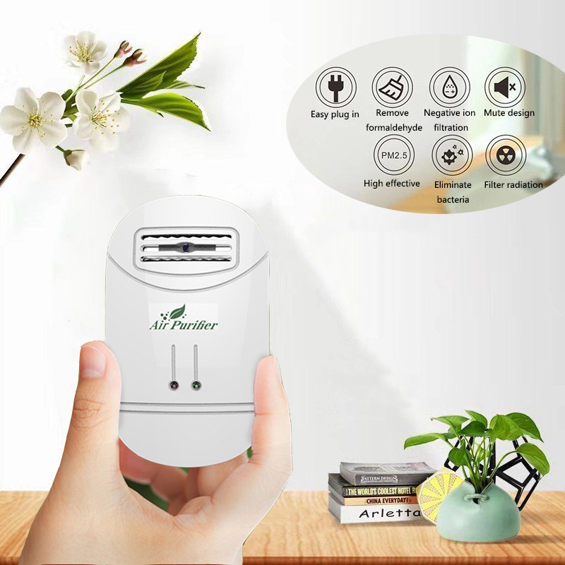 Home Anion Generator Air Purifier Removes Formaldehyde Soot Dust Purification Room Deodorizer Air Purifier Anion Generator