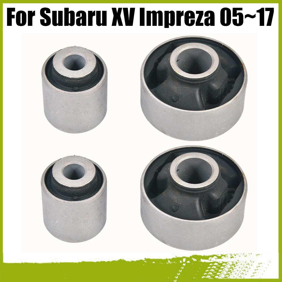 Przedni dolny tuleja wahacza poprzecznego zestaw 4 sztuk dla Subaru WRX 14-18 Impreza 05-17 dziedzictwo 03-18 Forester 08-17 Outback 03-18 XV 12-17