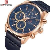 Relógios masculinos naviforce quartzo 24 horas data relógios homem à prova dwaterproof água relógio de pulso de couro do esporte starp|Relógios de quartzo| |  -