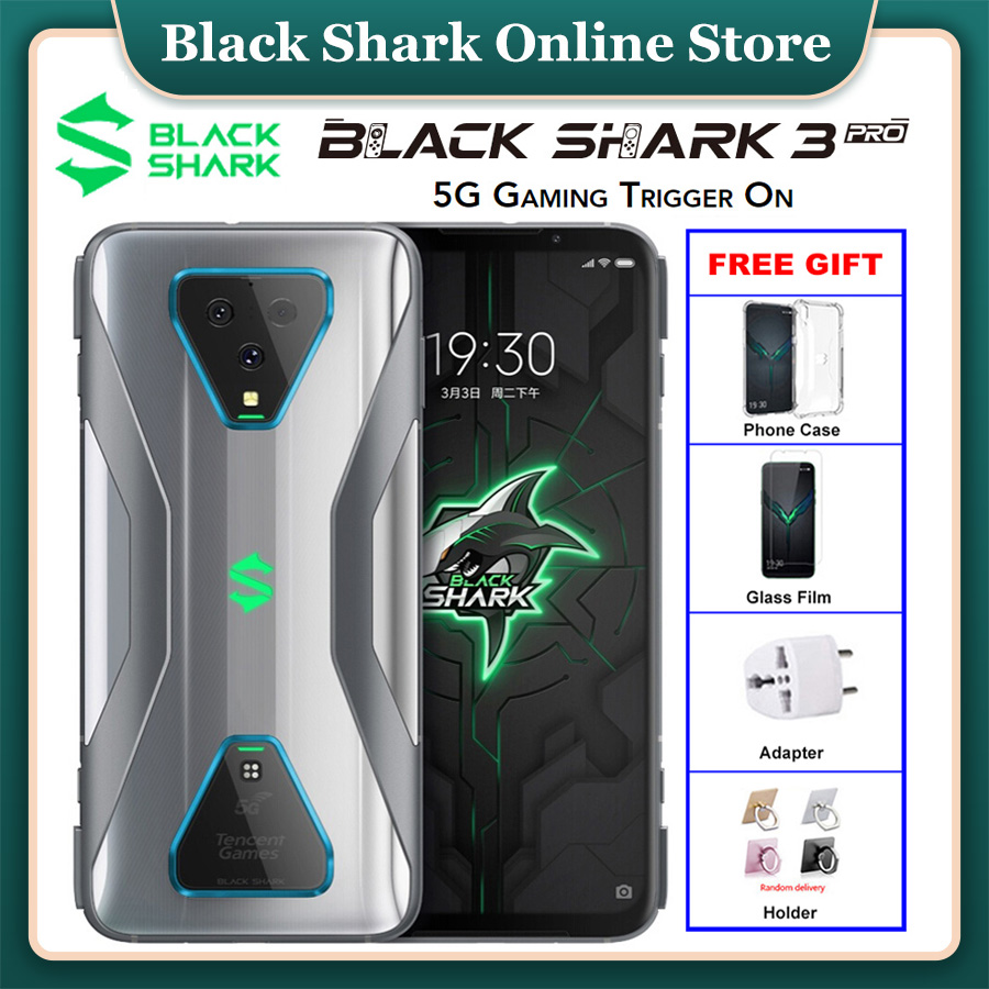 Original Xiaomi Black Shark 3 Pro Global Rom 5G Gaming Mobile Phone 12GB 256GB Snapdragon 865 5000mAh 7.1