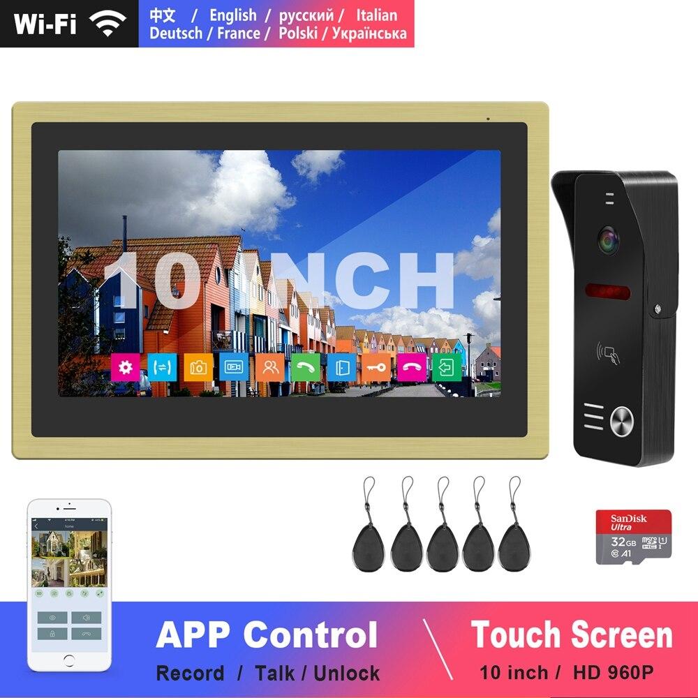 Diagonsview 10 Inch Video Intercom Wifi Intercom Wireless IP Phone-Intercom System HD Door Intercom Camera  Swiping Cards Unlock