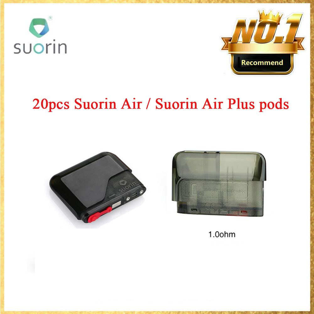 Original 2ml Suorin Air Cartridge 1.2ohm & 3.5ml Suorin Air Plus Pod Cartridge 1.0 Ohm Ecig Vape Pod For Suorin Air/Air Plus Kit
