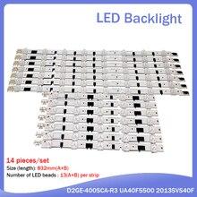 Tira de retroiluminación LED para SamSung, tira de luz LED para televisor de 40 pulgadas, D2GE 400SCA R3, D2GE 400SCB R3, UA40F5500, 2013SVS40F, UE40F6400/6300, UE40F5000/5700, 14 Uds.