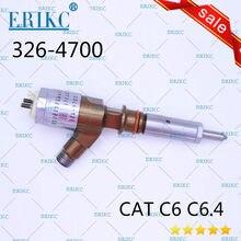 Inyector de combustible de calidad original ERIKC 326-4700 ,3264700 para excavadora 320D D18M01Y13P4752 Cat C6 C6.4