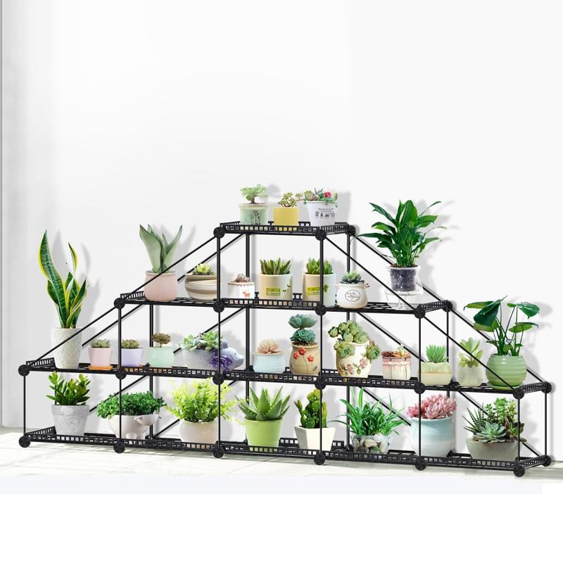 Fisker Iron Meat Flower Rack Economics Type Balcony To Ground Multi storey Shelf A Living Room Arrangement Admission Frame|Plant Shelves| |  - title=