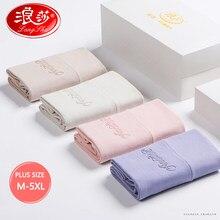 Wysoka talia Plus rozmiar 5XL 4 sztuk/zestaw majtki damska bawełniana bielizna miękkie urządzenie do modelowania sylwetki bezszwowe figi kobiet oddychająca bielizna