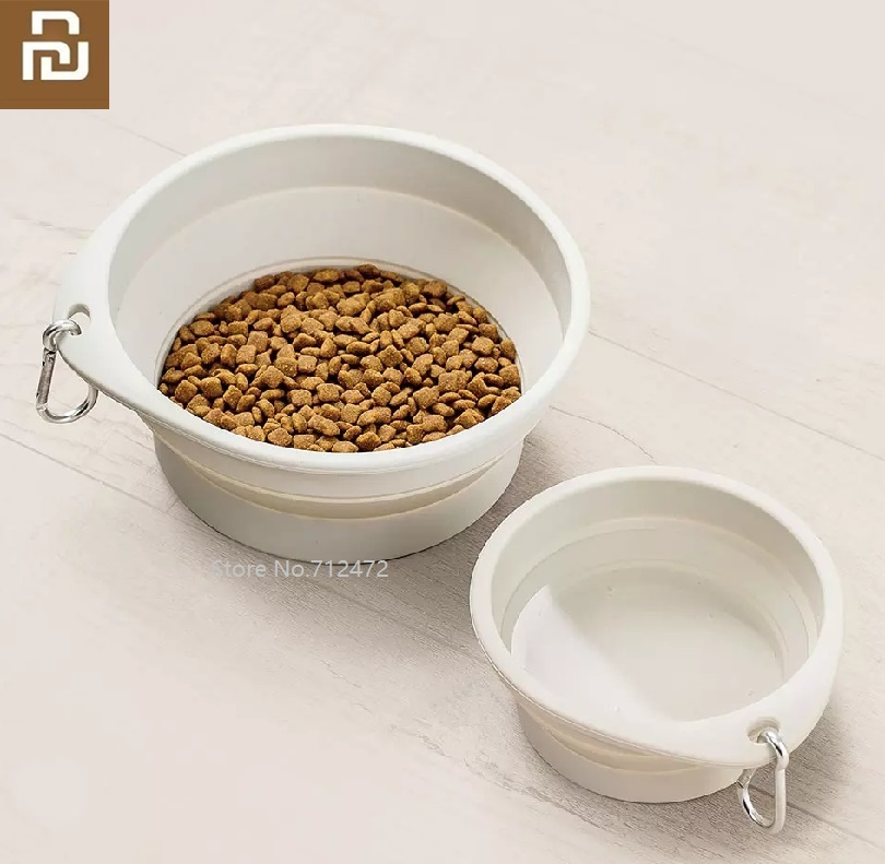 Youpin JordanJudy Pet Bowl Foldable Cat And Dog Universal Portable Drinking Bowl Home Outdoor Feeding Bowl Pet Basin