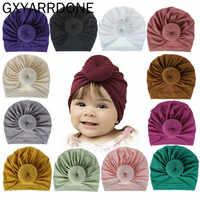 2019 Baby Mädchen Baumwolle Turban Top Donut Hut Kleinkind Kinder Bebe Indien Beanie Kappe Schönen Weichen Neugeborenen Headwear Haar Zubehör