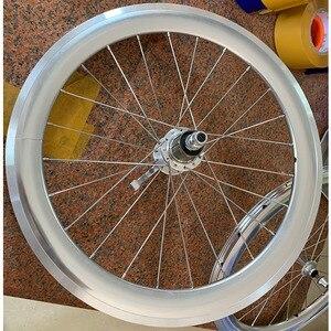 """Image 5 - Silverock liga rodado 20 """"406 451rim pinça de freio alto perfil 74 100 130 11s para triciclo bicicleta dobrável rodas minivelo"""