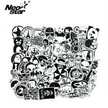 60 шт./лот, черно-белая смешанная наклейка s для ноутбука Moto/Car, крутая наклейка, граффити, наклейки bomb, наклейка s, скейтборд, багаж