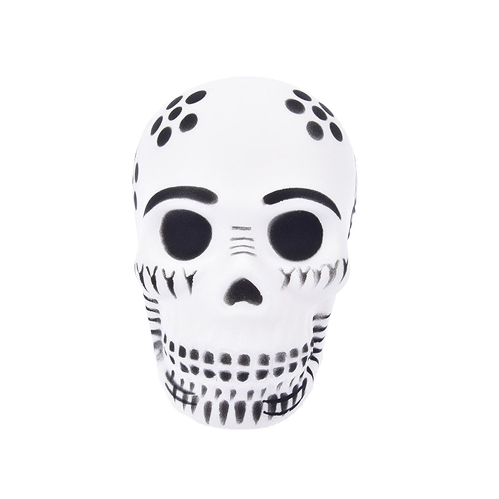 10CM Funny Skull Scented Charm Slow Rising Children Interesting Anti-Stress Toys Squeeze Toys Decompression Toys