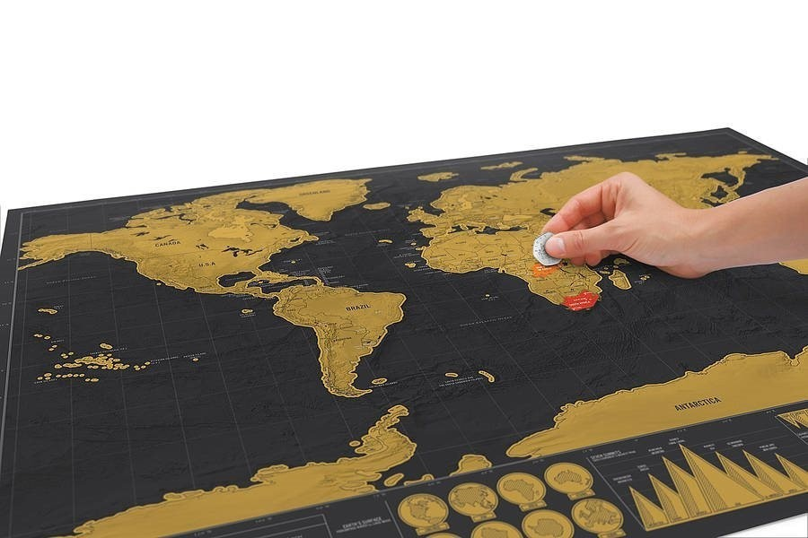 1Piece Deluxe Black Scratch Off World Map 82.5 X 59.4cm As Room Decoration Wall Stickers 4