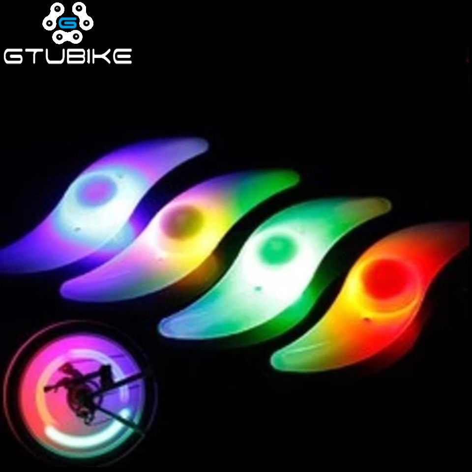 Mountain Road Bike Bicycle Lights LED Tyre Tire Caps Wheel Spokes Light Lamp Supper Bright