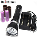 8000 Lumen 5 x XML L2 LED Diving Flashlight Torch Underwater 200M Waterproof LED Flash Light Lantern Torch
