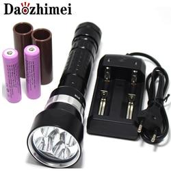 8000 Lumen 5 x XML L2 LED Tauchen Taschenlampe Taschenlampe Unterwasser 200M Wasserdichte LED-Blitz Licht Laterne Taschenlampe