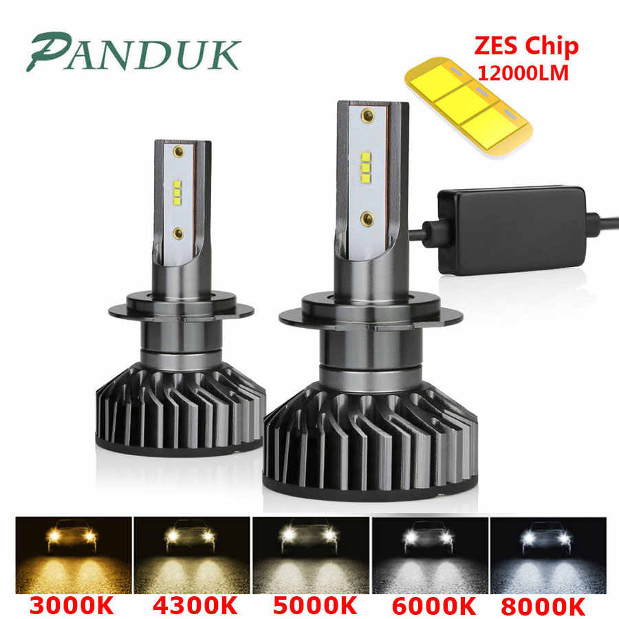 PANDUK H7 LED H4 H11 H8 H1 HB3 9005 9006 LED HB3 Canbus Headlight Bulb Car Light ZES 12000LM 72W 80W 4300K 6000K 8000K 12V Lamp