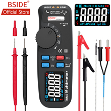 BSIDE ADM92CL True RMS Digital Multimeter Color Display Auto Range 6000 TRMS Tester with Live Wire Check Temp Hz ohm Diode Meter