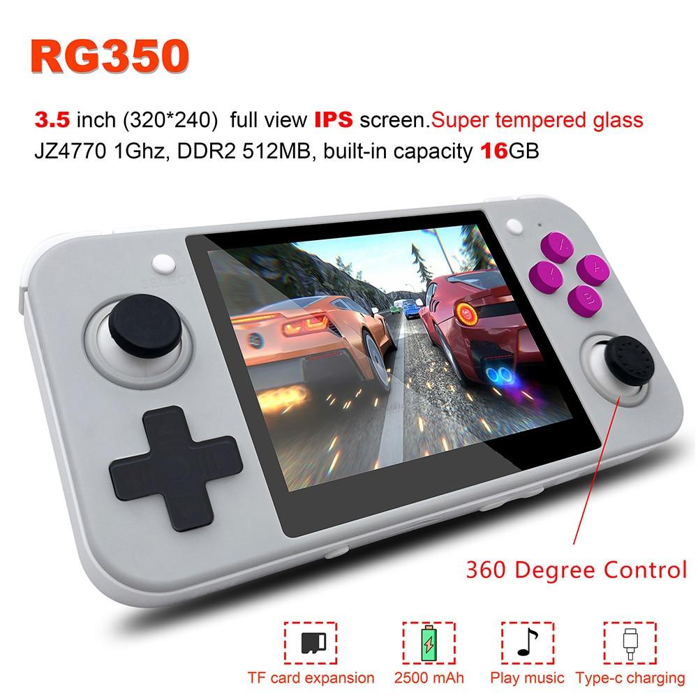 3.5 Polegada tela ips 16g + 32g tf jogador de jogo rg 350 ps1