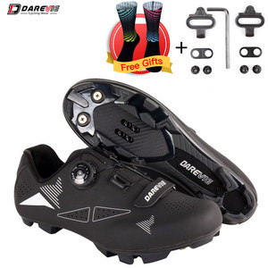 Darevie MTB Cycling Shoes Mountain Bike Cycling Shoes Pro Race MTB Self-Locking Bicycle Sneakers Boots SPD Lock Shoes Men Women