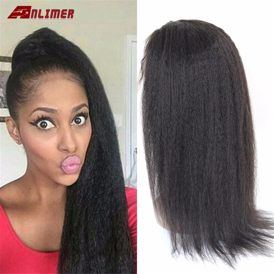 Yaki Straight Lace Front Human Hair Wigs Bleached Knots Brazilian No Remy Hair Glueless 13*4/13*6 With Baby Hair 130% Density