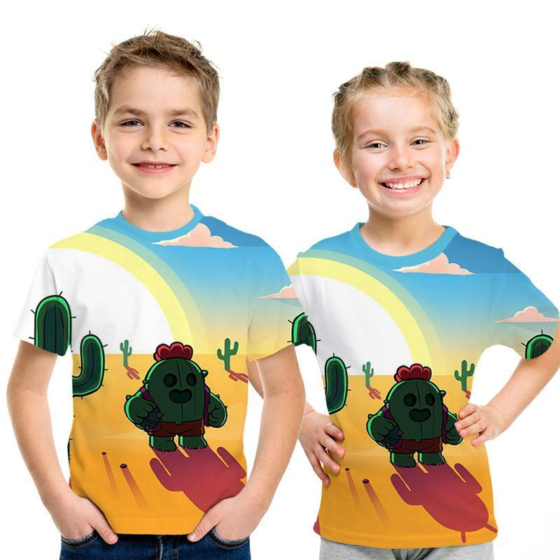 Summer 2019 new kids versus stars kids t-shirt 3D shooter game printed men t-shirt cute boys and girls short sleeve t-shirt