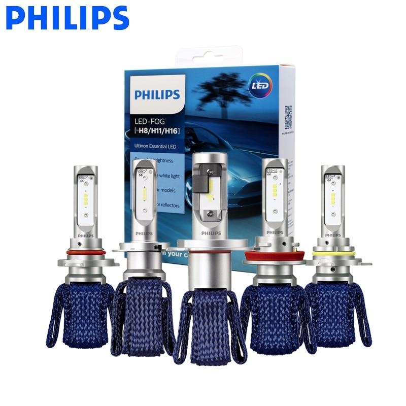 Philips H7 светодиодный H4 H8 H11 H16 9005 9006 9012 HIR2 HB3 HB4 Ultinon Эфирное светодиодный лампы для автомобилей 6000 К авто фары комплект из 2 предметов