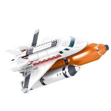 KAZI GUDI seria miejska Spaceport prom kosmiczny Launch Center rakietowe klocki budowlane dla dzieci zabawki dla dzieci Technic