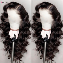 Onda solta peruca frente do laço perucas de cabelo humano brasileiro perucas de cabelo humano remy peruca frontal do laço pré-arrancado fechamento peruca para mulher